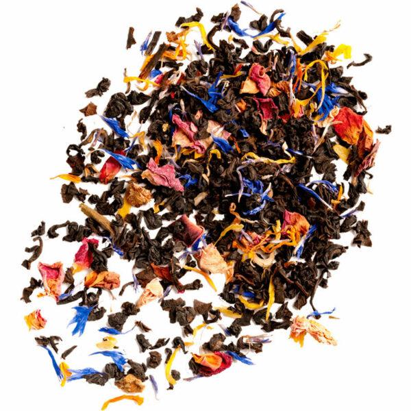 Black tea with Rose, Cornflower and Calendula