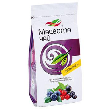Black long leaf  Tea with natural berries   - Hand Picked Tea 75g