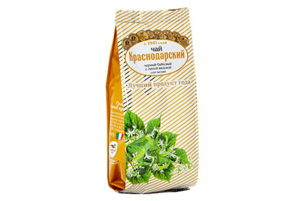 Black long leaf  Tea with with honey linden - Hand Picked Tea 100g