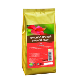 Black long tea top grade with hibiscus petals 50 gr - Hand Picked Tea