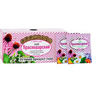 Black tea with echinacea and linden 25 tea bags, 50g