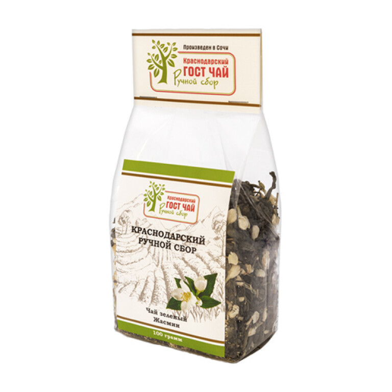 Green long leaf tea Jasmine 100 gr  - hand picked