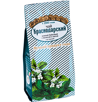 Green long leaf tea with  peppermint and lemon balm ( melissa)- Hand Picked Tea 100g