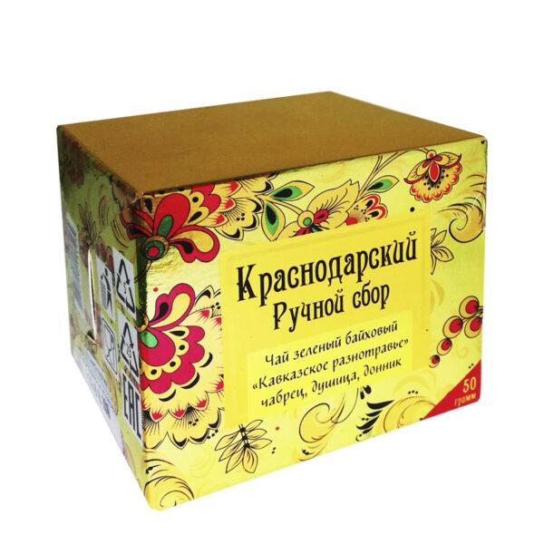 "Green tea ""Caucasian herbs"" khokhloma 50 gr -Hand Picked Tea"