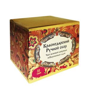 "Green tea ""Peach garden"" khokhloma 50 gr -Hand Picked Tea"