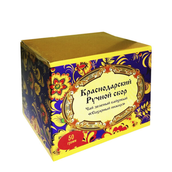 "Green tea ""Sugar fig"" khokhloma 50 gr-Hand Picked Tea"