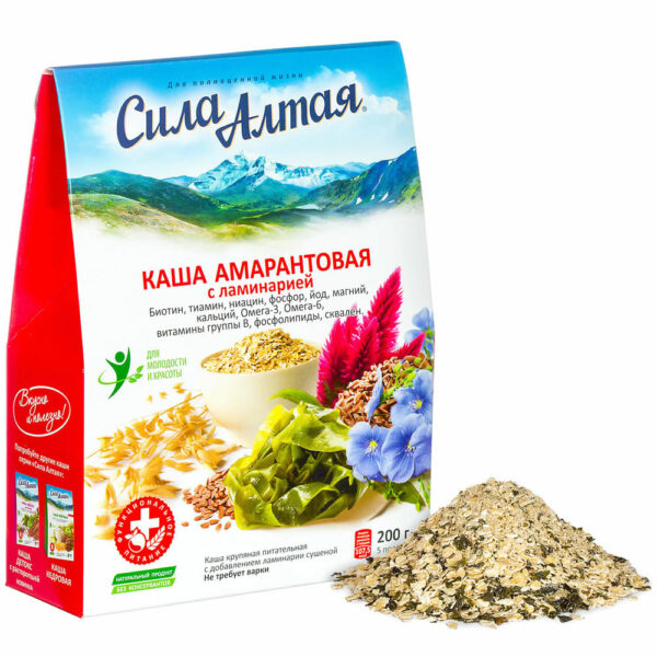 "Amaranth porridge with kelp ""Power of Altai"" 5 portions, 200 g"