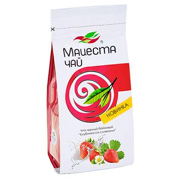 "Black long  leaf tea ""Strawberry with cream"" 75g"