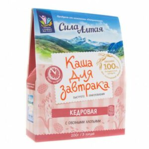 "Cedar porridge for breakfast ""Power of Altai"" 5 portions,200 g"