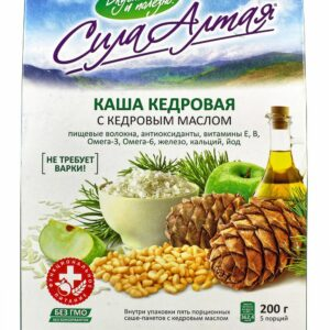 "Cedar porridge with cedar butter ""Power of Altai"" 5 portions, 223 g"