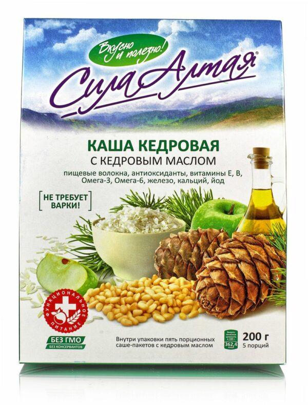 "Cedar porridge with cedar butter ""Power of Altai"" 5 portions, 223 g"
