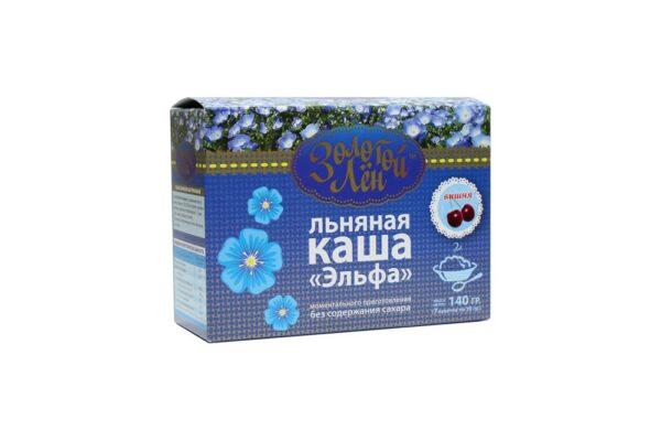 """Linseed porridge """"Elfa"""" (cherry), 7 bags of 20 gr"""