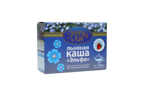 "Linseed porridge ""Elfa"" (strawberry), 7 packets of 20 gr"