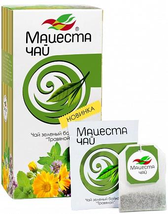 """Long leaf green tea """"Herbal"""" 20 packs , 40g"""