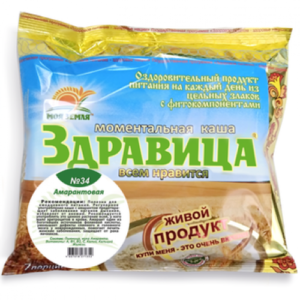 "Porridge ""Zdravitsa"" No. 34 Amaranth (for anemia) 7 portions, 200 g"