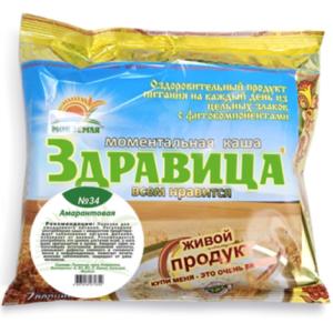 """Porridge """"Zdravitsa"""" No. 34 Amaranth (for anemia) 7 portions, 200 g"""