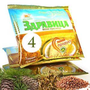 """Porridge 'Zdravitsa' No. 4 """"Health"""", 7 portions, 200 g"""
